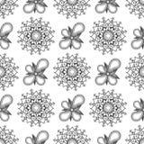 您的设计的葡萄酒花卉无缝的样式 免版税库存照片
