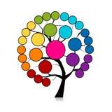 您的设计的Infographic树 向量例证