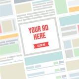 您的这里广告平的例证 库存例证