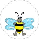您的逗人喜爱的蜂动画片设计 免版税库存图片