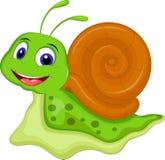 您的逗人喜爱的蜗牛动画片设计 免版税库存照片
