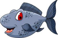 您的逗人喜爱的鱼动画片设计 免版税图库摄影