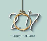 2017年您的飞行物和贺卡的新年快乐背景 免版税库存照片