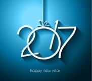 2017年您的飞行物和贺卡的新年快乐背景 库存照片