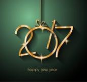 2017年您的飞行物和贺卡的新年快乐背景 库存图片
