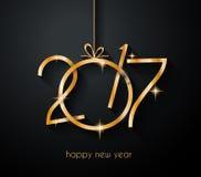2017年您的飞行物和贺卡的新年快乐背景 向量例证