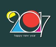 2017您的贺卡的新年创造性的设计 免版税库存照片