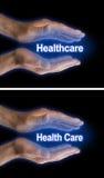 您的医疗保健在您的手里 库存图片