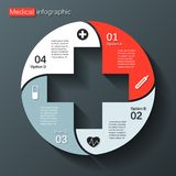 您的医疗项目的现代传染媒介模板 库存图片