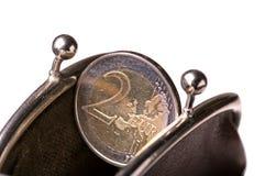 您硬币的钱包 库存照片