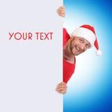 您空白克劳斯藏品图象圣诞老人的文&# 免版税库存图片