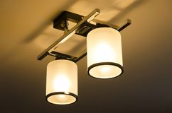 您空的闪亮指示照明设备物体空间的文本 图库摄影