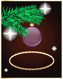 您背景圣诞节典雅的插入的文本 库存图片