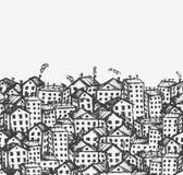 您背景城市设计无缝的草图 库存图片
