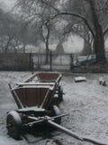 您背景秀丽设计庭院多雪的冬天 库存照片