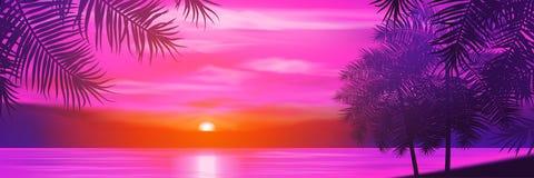 您背景设计花卉晚上无缝的夏天 在背景的棕榈树  库存图片