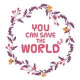 您能拯救世界 免版税库存图片