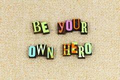您自己的英雄梦想勇气 免版税库存照片
