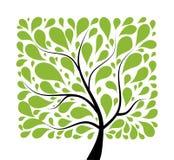 您艺术美丽的设计的结构树 免版税图库摄影
