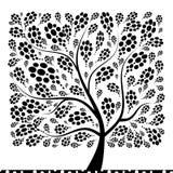 您艺术美丽的设计的结构树 免版税库存图片