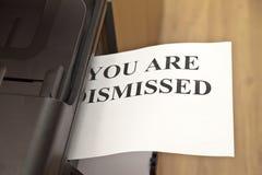 您被遣散 免版税库存照片