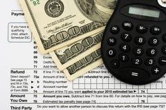 您计算的退款的税务 免版税库存图片