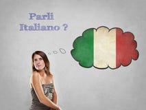 您讲意大利语 库存图片