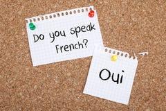 您讲法语 免版税库存图片
