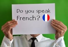 您讲法语 库存图片
