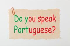 您讲葡萄牙语 免版税库存图片