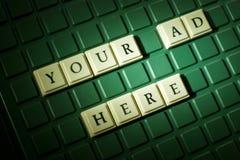 您这里的广告 免版税库存图片