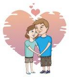 在爱的一对年轻夫妇 库存图片