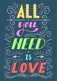 您需要的所有是爱字法 库存照片