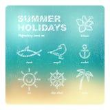 您系列节日快乐的夏天 免版税库存图片