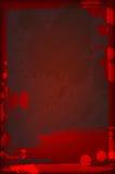 您黑暗的设计的脏的血淋淋的框架 免版税图库摄影