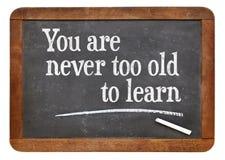 您从未是太老也学会 库存照片
