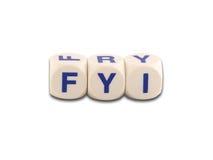 您fyi的信息 免版税图库摄影