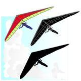 悬挂式滑翔机飞行传染媒介 免版税库存照片