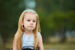 悲伤 有思想性 芭蕾舞女演员一点 画象孩子 白肤金发 免版税图库摄影