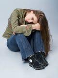 悲哀的女孩 免版税库存照片