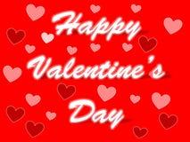 情人节与不同的颜色的心脏的字法背景 库存照片