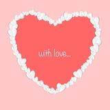 情人节与被削减的纸心脏的摘要背景 免版税图库摄影