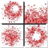 情人节与重点的向量背景 免版税库存照片