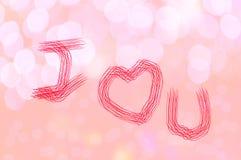 情人节五颜六色的甜爱背景 免版税图库摄影