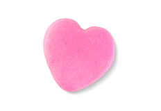 情人节在白色背景隔绝的糖果心脏 免版税库存照片