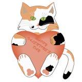 情人节小猫 免版税库存照片
