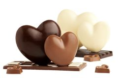 情人节巧克力心脏 免版税库存图片
