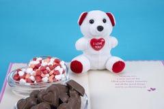 情人节巧克力糖 库存图片