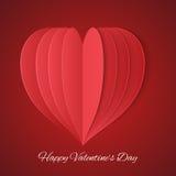 情人节庆祝的纸心脏 库存照片