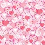 情人节心脏无缝的样式背景 免版税图库摄影